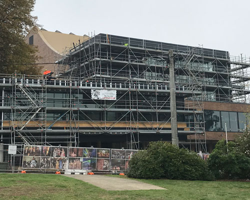 Scaffold for Warragul Art Centre redevelopment