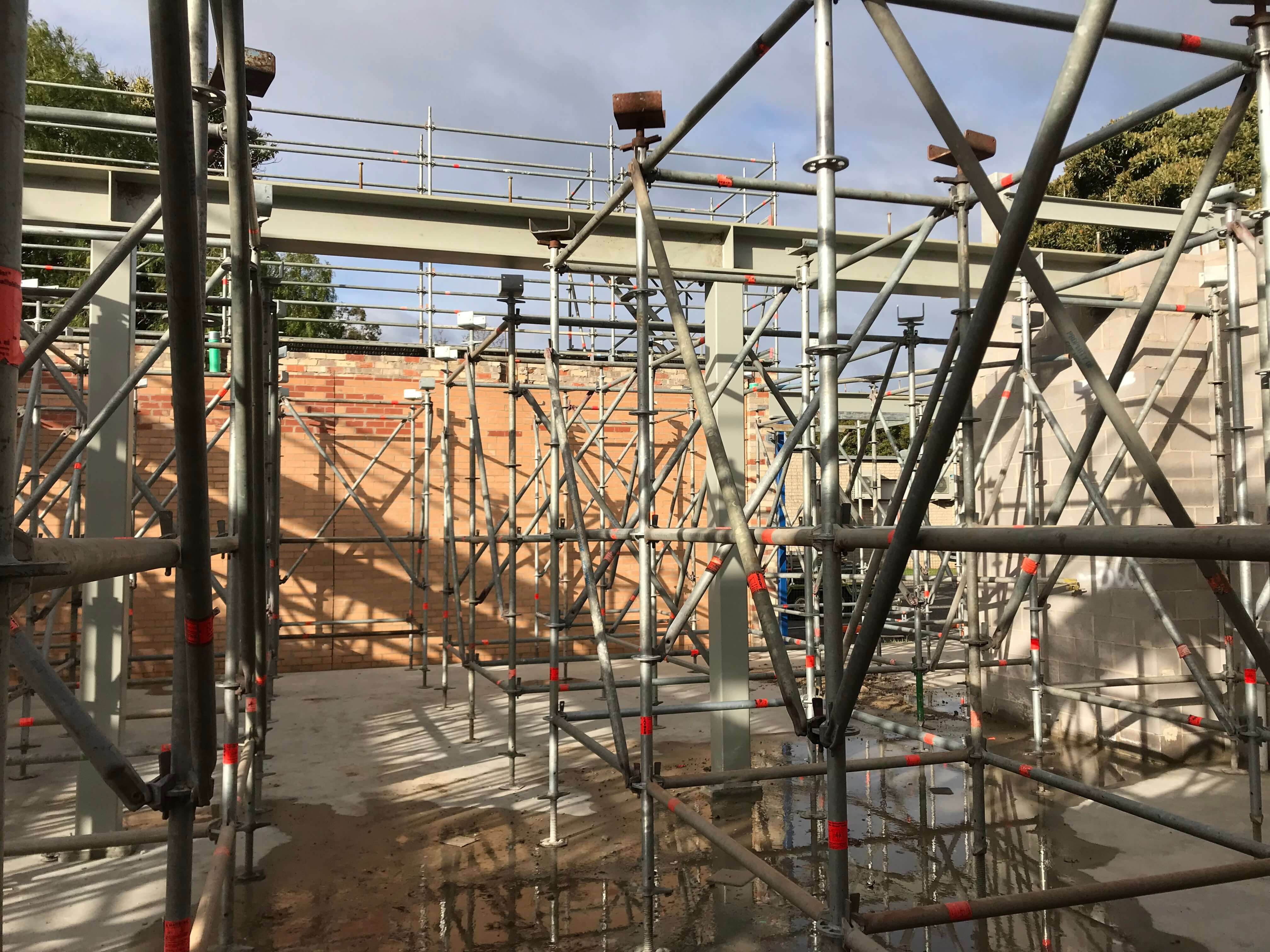 Scaffold on building project in Sale